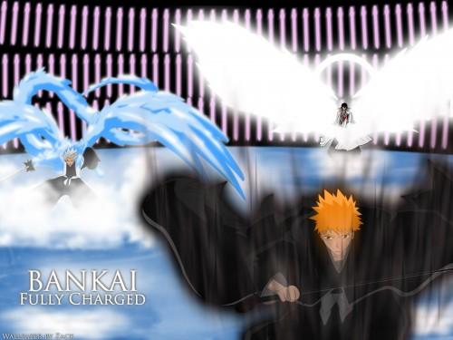 Kubo Tite, Studio Pierrot, Bleach, Byakuya Kuchiki, Toshiro Hitsugaya Wallpaper