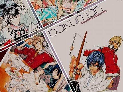 Takeshi Obata, J.C. Staff, Bakuman, Akito Takagi, Moritaka Mashiro Wallpaper