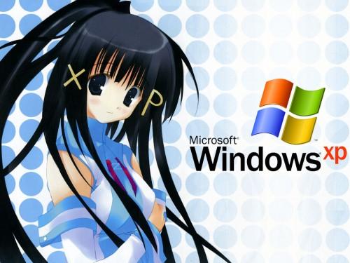 Misato Mitsumi, OS-tan, Windows XP-tan Wallpaper