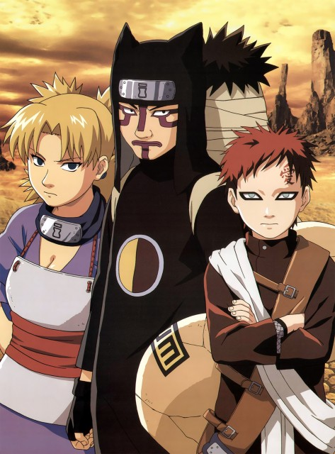 Studio Pierrot, Naruto, Kankuro, Temari, Gaara