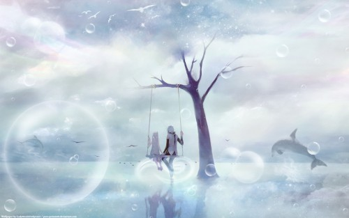 Chris (Mangaka), Vocaloid, Miku Hatsune, Mikuo Hatsune Wallpaper