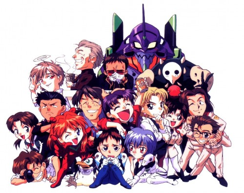 Neon Genesis Evangelion, Kaji Ryoji, Misato Katsuragi, Kaworu Nagisa, Asuka Langley Soryu