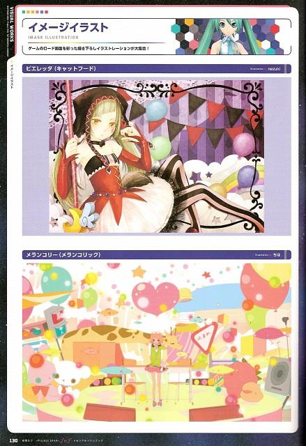 Chiho, nezuki, Project Diva F & F Memorial Fan Book, Vocaloid, Miku Hatsune