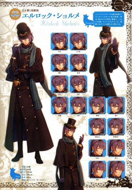miko (Mangaka), Idea Factory, Code: Realize Official Fan Book, Code: Realize, Herlock Sholmes