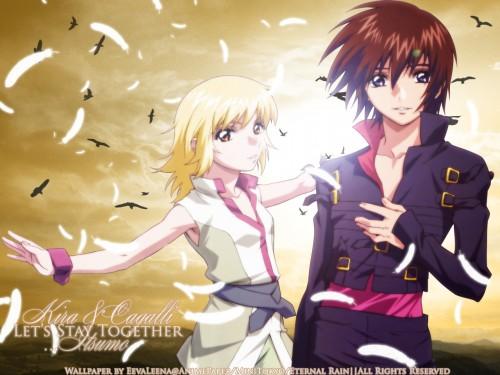 Sunrise (Studio), Mobile Suit Gundam SEED Destiny, Kira Yamato, Cagalli Yula Athha Wallpaper