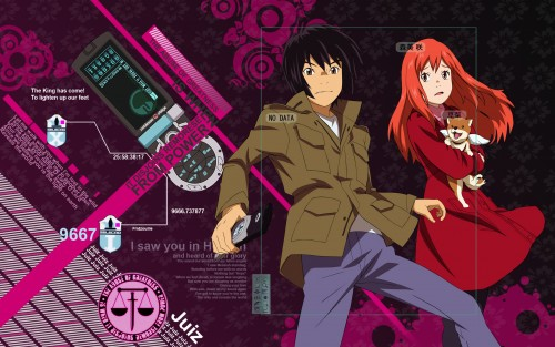Production I.G, Eden of the East, Saki Morimi, Akira Takizawa, Angelika Wallpaper