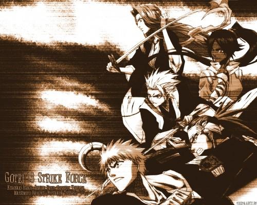 Kubo Tite, Studio Pierrot, Bleach, Ichigo Kurosaki, Yoruichi Shihouin Wallpaper