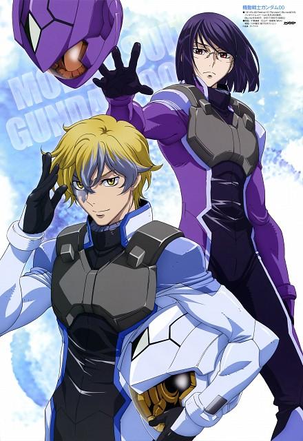 Sunrise (Studio), Mobile Suit Gundam 00, Graham Aker, LaetitiaErde, Pin-up Poster