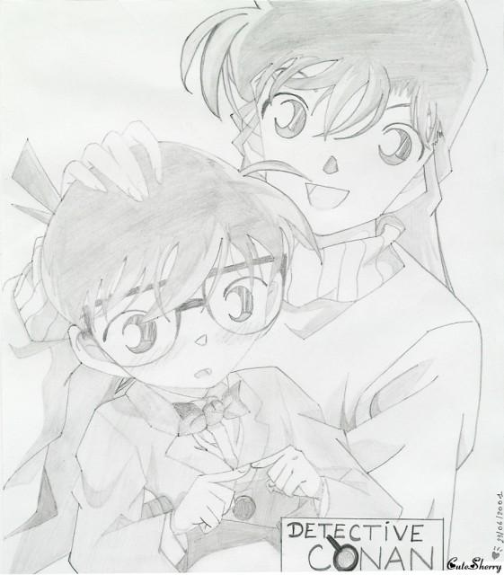 Detective Conan, Ran Mouri, Conan Edogawa, Member Art