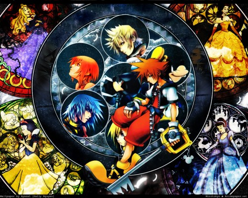 Square Enix, Kingdom Hearts, Mickey Mouse, Sora, Goofy Wallpaper