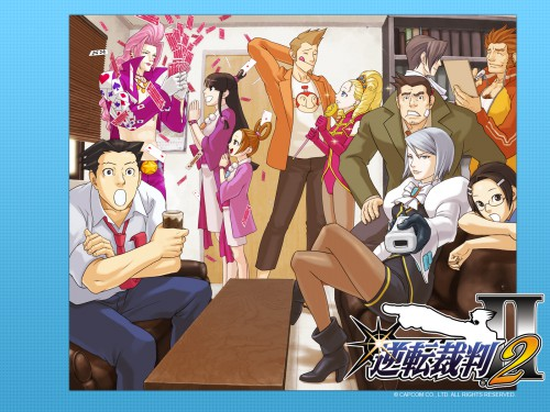 Capcom, Ace Attorney, Franziska Von Karma, Larry Butz, Miles Edgeworth