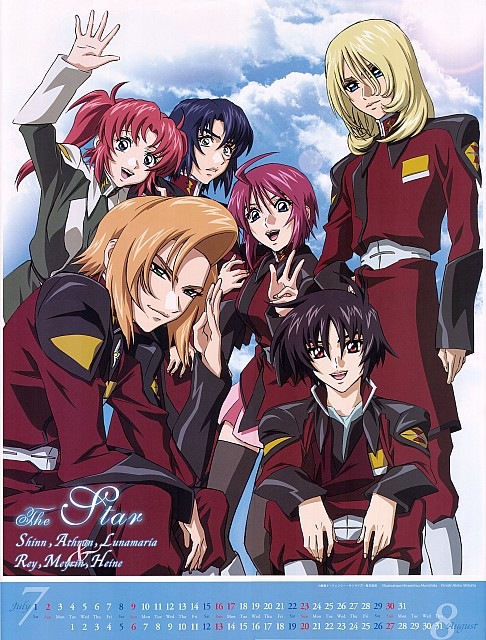 Hisashi Hirai, Sunrise (Studio), Mobile Suit Gundam SEED Destiny, Gundam Seed Destiny 2006 Calendar, Heine Westenfluss