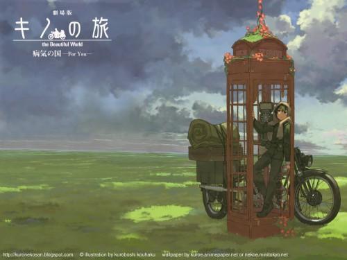 Kouhaku Kuroboshi, Kino no Tabi, Hermes, Kino Wallpaper