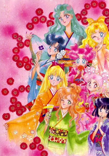 Naoko Takeuchi, Bishoujo Senshi Sailor Moon, BSSM Original Picture Collection Vol. V, Michiru Kaioh, Chibi Usa