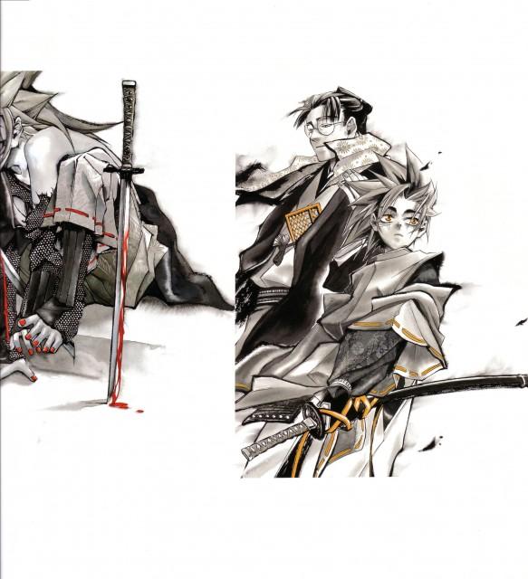 Nanae Chrono, Peacemaker Kurogane, Keisuke Yamanami, Tetsunosuke Ichimura