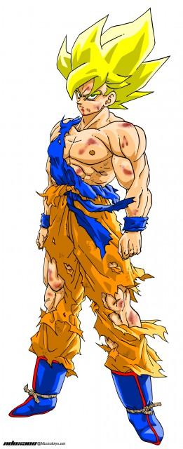 Akira Toriyama, Toei Animation, Dragon Ball, Super Saiyan Goku, Vector Art