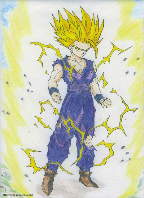 Akira Toriyama, Dragon Ball, Super Saiyan Gohan, Member Art