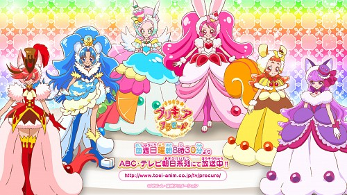 Toei Animation, Kirakira Precure A La Mode, Cure Macaron, Cure Gelato, Cure Custard