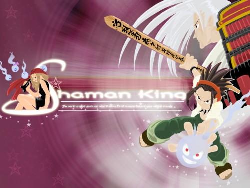 Hiroyuki Takei, Xebec, Shaman King, Yoh Asakura, Anna Kyouyama Wallpaper