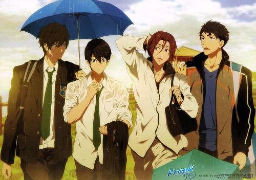 Kyoto Animation, Free!, Makoto Tachibana, Sousuke Yamazaki, Rin Matsuoka