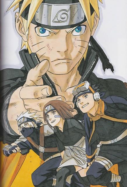 Naruto, NARUTO Illustrations, Naruto Uzumaki, Kakashi Hatake, Obito Uchiha