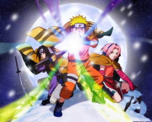 Naruto, Sakura Haruno, Naruto Uzumaki, Sasuke Uchiha Wallpaper
