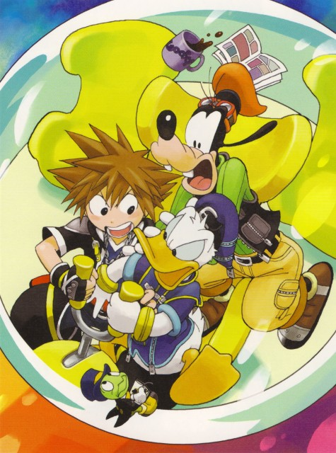 Shiro Amano, Kingdom Hearts, Sora, Jiminy Cricket, Goofy