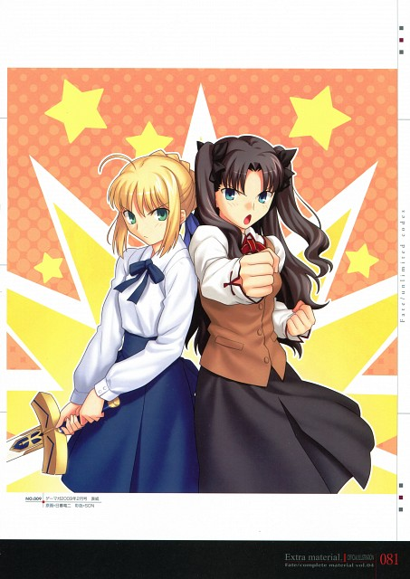 TYPE-MOON, Fate/complete material IV Extra material., Fate/stay night, Rin Tohsaka, Saber