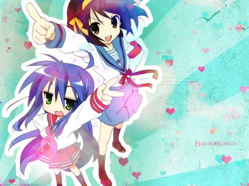 Yoshimizu Kagami, Noizi Ito, Kyoto Animation, The Melancholy of Suzumiya Haruhi, Lucky Star Wallpaper