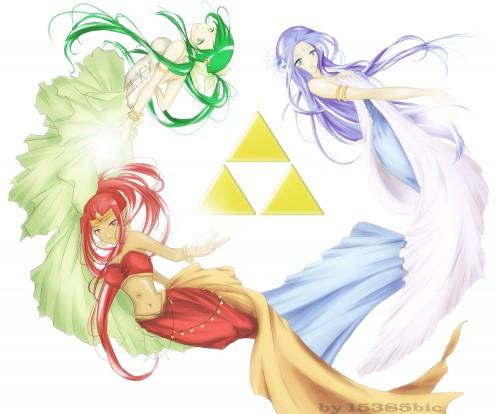 The Legend of Zelda, Farore, Din, Nayru, Member Art