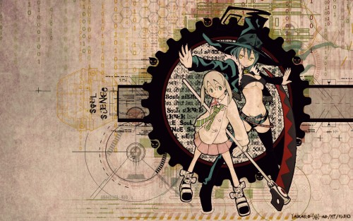 Soul Eater, Blair, Maka Albarn Wallpaper
