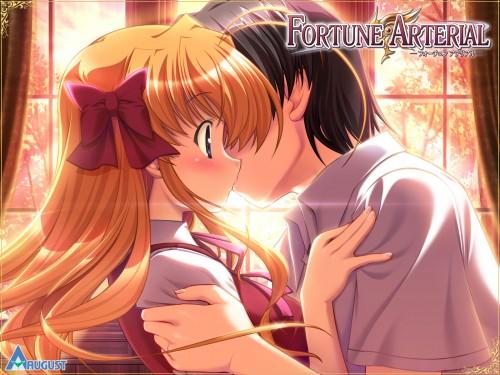 Fortune Arterial, Kouhei Hasekura, Erika Sendou, Official Wallpaper