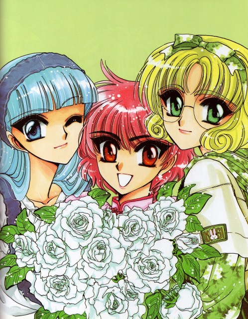 CLAMP, Magic Knight Rayearth, Magic Knight Rayearth 2 Illustrations Collection, Hikaru Shidou, Umi Ryuuzaki