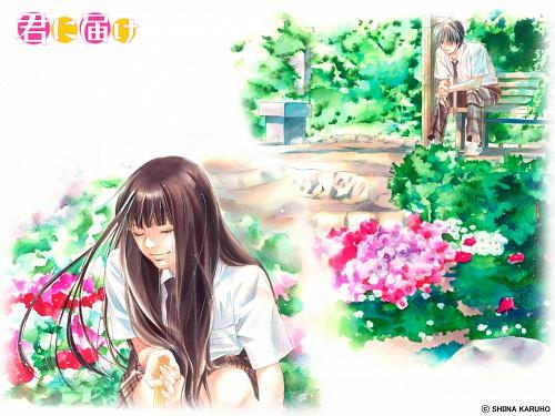 Karuho Shiina, Kimi ni Todoke, Sawako Kuronuma, Shouta Kazehaya, Official Wallpaper