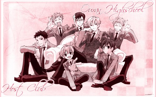 Hatori Bisco, BONES, Ouran High School Host Club, Kyoya Ootori, Mitsukuni Haninozuka Wallpaper
