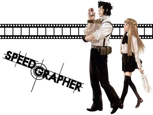 Tomozo, Gonzo, Speed Grapher, Kagura Tennouzu, Tatsumi Saiga Wallpaper