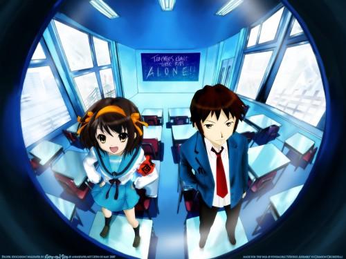Noizi Ito, Kyoto Animation, The Melancholy of Suzumiya Haruhi, Kyon, Haruhi Suzumiya Wallpaper