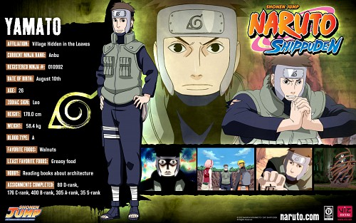 Studio Pierrot, Naruto, Yamato , Official Wallpaper