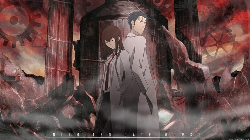 Steins Gate, Rintarou Okabe, Kurisu Makise Wallpaper