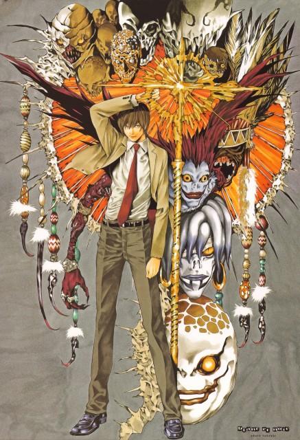 Takeshi Obata, Death Note, Blanc et Noir, Rem, Ryuk