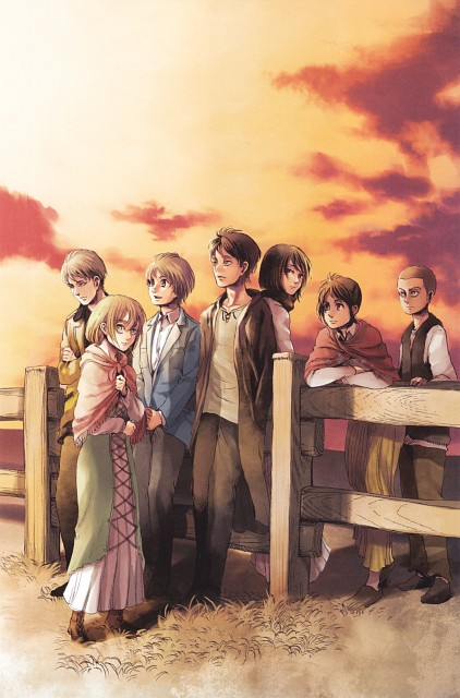 Hajime Isayama, Shingeki no Kyojin, Mikasa Ackerman, Eren Yeager, Postcard