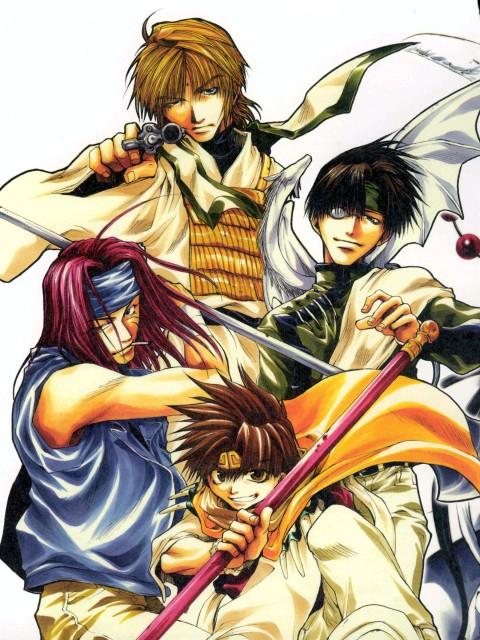 Kazuya Minekura, Studio Pierrot, Saiyuki, Salty Dog I, Hakuryuu (Saiyuki)