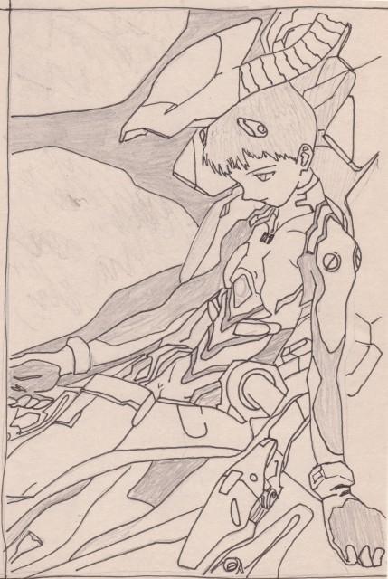 Yoshiyuki Sadamoto, Neon Genesis Evangelion, Shinji Ikari, Member Art