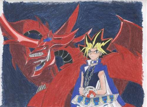 Yu-Gi-Oh Duel Monsters, Yami Yuugi, Slifer the Sky Dragon