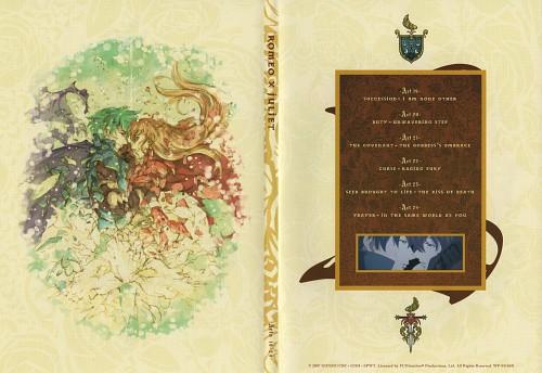 Gonzo, Romeo x Juliet, Juliet Fiamatta Asto Capulet, Romeo Candolebonte Montague, DVD Cover