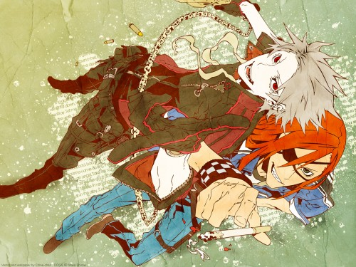 Miwa Shirow, Dogs: Bullets and Carnage, Badou Nails, Haine Rammsteiner, Vector Art Wallpaper