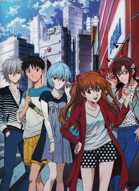 Gainax, Neon Genesis Evangelion, Shinji Ikari, Makinami Mari Illustrious, Rei Ayanami