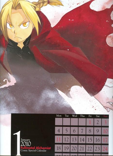Hiromu Arakawa, BONES, Fullmetal Alchemist, Edward Elric, Calendar