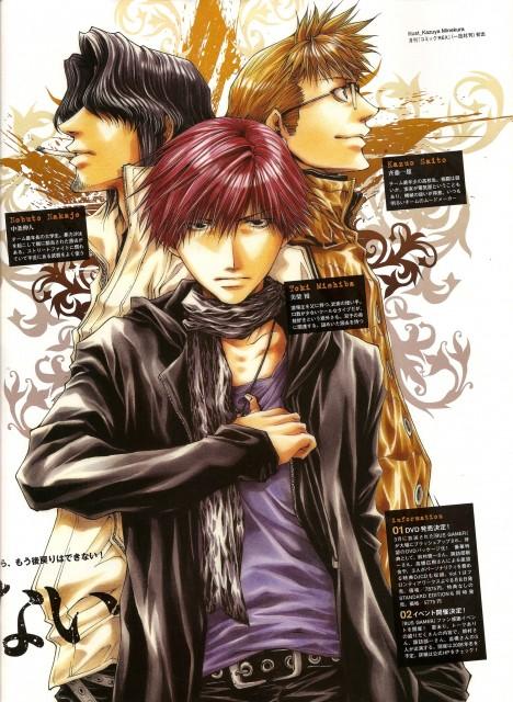 Kazuya Minekura, Bus Gamer, Kazuo Saitou, Nobuto Nakajou, Toki Mishiba