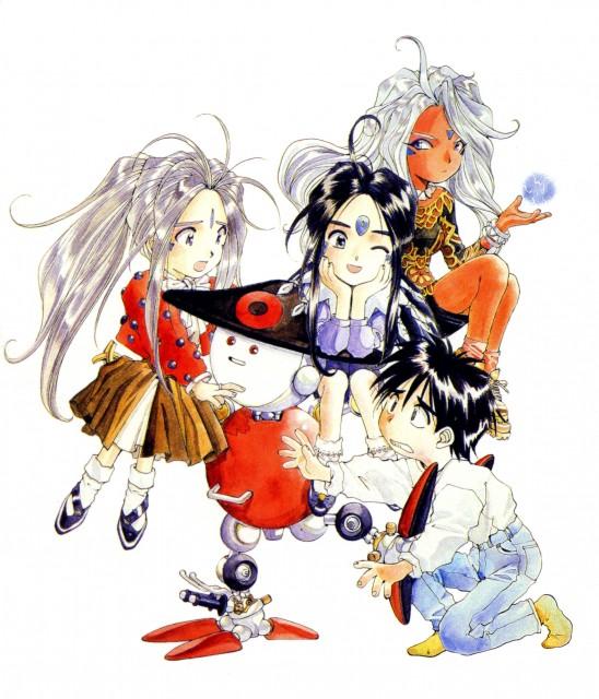 Kousuke Fujishima, Ah! Megami-sama, Keiichi Morisato, Belldandy, Skuld